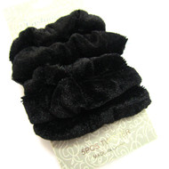 (QSK2523) VELVET SCRUNCHIE 5PCS/CD