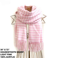 "HOUNDSTOOTH SCARF 30""x72"""
