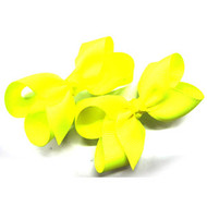 CLIP BOW PAIR DZ NEON YELLOW [25.35]