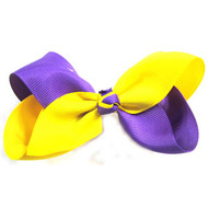 CLIP BOW YELLOW + PURPLE
