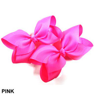 CLIP BOW PAIR DZ PINK