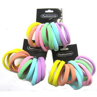 COTTON ELASTIC PONYTAIL 10PCS/CD