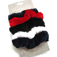 (QSS2523) VELVET SCRUNCHIE 5PCS/CD