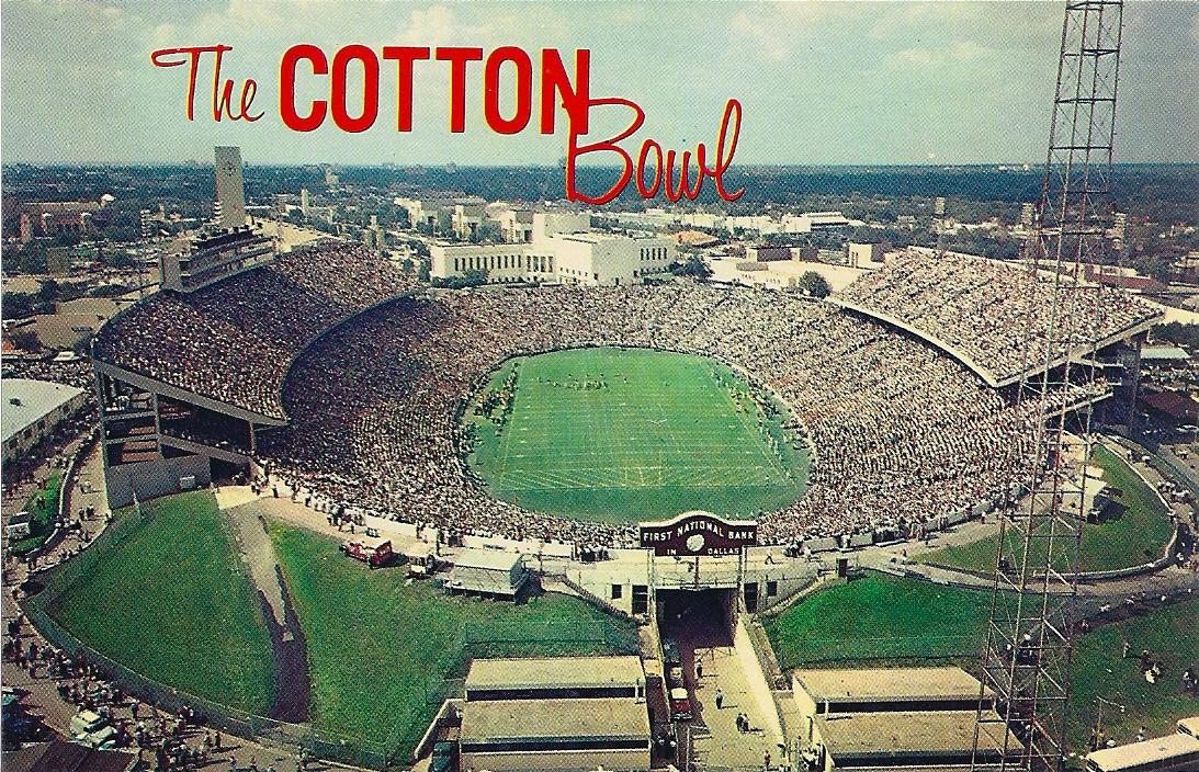 cotton bowl p63627   stadium postcards