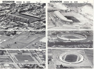 6 Ecuador Stadium Postcards (GRB-595 thru GRB-600)