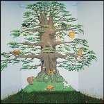 Magnetic Paint Mural Tree
