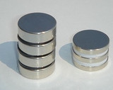 Disc-style Rare Earth Magnets, 1/4 inch thick