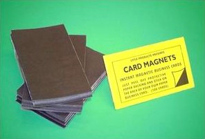 Self adhesive business card magnets magically magnetic self adhesive magnetic business cards colourmoves Image collections