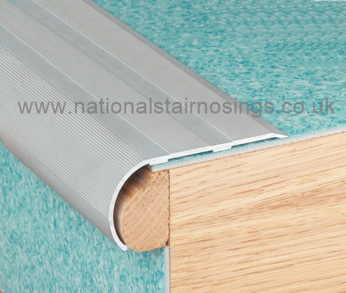 Aluminium Bullnose Stair Nosing Ramp Profile 2 7m