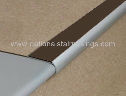 Bullnose Non Slip Stair Nosings For Vinyl Lino National
