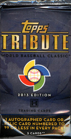 2013 Topps Tribute World Baseball Classic Ed Hobby Pack