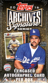 2016 Topps Archives Signature Series Baseball Hobby Box