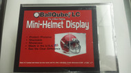 "BALLQUBE, LC Mini-Helmet Display Case 5.06"" X 5.06"" X 7"""