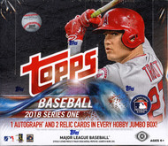 2018 Topps Series 1 Baseball HTA Jumbo Box +  Silver Packs