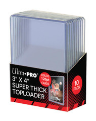 "Ultra Pro 3"" X 4"" Super Thick 120PT Toploader 10ct"
