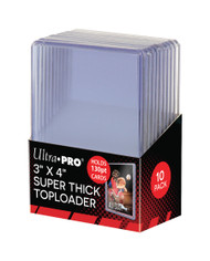 "Ultra Pro 3"" X 4"" Super Thick 130PT Toploader 10ct"