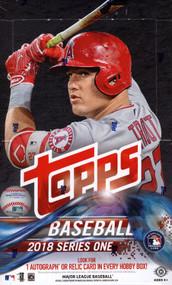 2018 Topps Series 1 Baseball Hobby 12 Box Case + 12 Silver Pack