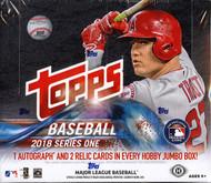 2018 Topps Series 1 Baseball HTA Jumbo 6 Box Case + 12 Silver Packs