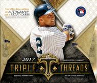 2017 Topps Triple Threads Baseball Hobby 18 Box Case