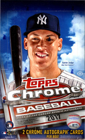 2017 Topps Chrome Baseball Hobby 12 Box Case