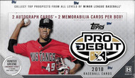 2018 Topps Pro Debut Baseball Hobby Box
