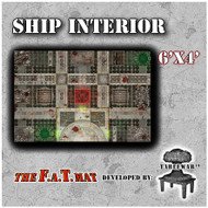 6x4 'Ship Interior' F.A.T. Mat Gaming Mat