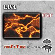 6x4 'Lava' F.A.T. Mat Gaming Mat