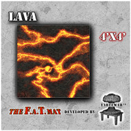 4x4 'Lava' F.A.T. Mat Gaming Mat
