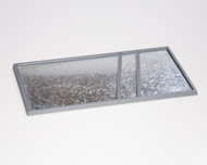 Double-wide Bottom Unit Tray with plastic spacers (used to allow two Tray Toppers to fit fully within the tray)
