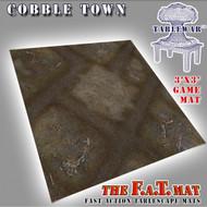 3x3 'Cobble Town' F.A.T. Mat Gaming Mat