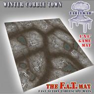 4x4 'Winter Cobble Town' F.A.T. Mat Gaming Mat