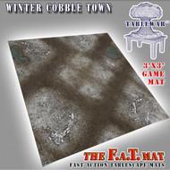 3x3 'Winter Cobble Town' F.A.T. Mat Gaming Mat