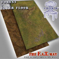 6x3' Dbl Sided 'Forrest + Cave Floor' F.A.T. Mat Gaming Mat