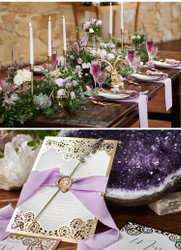 Boho-Luxe Lavender Wedding Day