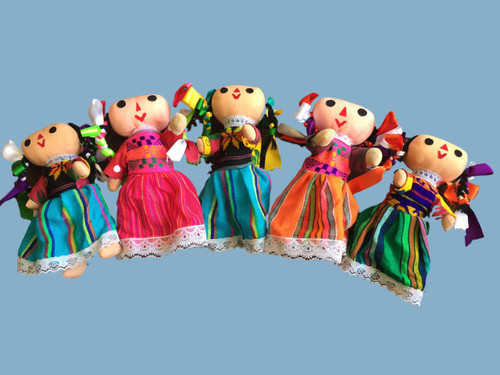 "8"" Mexican  Folklorico doll"