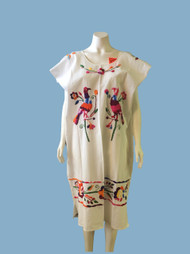 Birds embroidered peasant