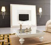 Designer Modern White Coffee Table - Roma