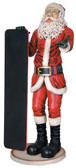 Skinny Santa with Menu Life Size Statue 5.5FT