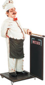 Chef Cook with Menu Sign Statue Life Size