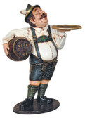 Tiroler Beer Waiter butler statue 3FT