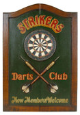 Dart Board Cabinet - Strikers Theme