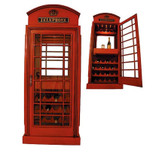 British Phone Booth Wine Display Cabinet
