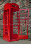 London Red Telephone Booth English Phone Box Life Size Replica
