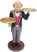 Waiter with Two Trays