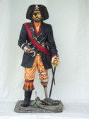 Peg Leg Pirate Statue Captain Hook Life Size