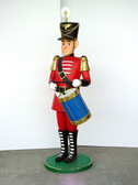 Nutcracker Drummer Tin Soldier Life Size Statue 5.5 FT