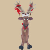 Funny Reindeer Statue Sitting 2FT