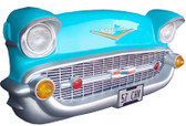 Chevy Front Wall Decor Turquoise