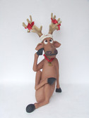 Reindeer Sitting with Cross Legs Christmas Decor 3FT