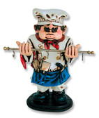 Cook with Utensils Holder Statue